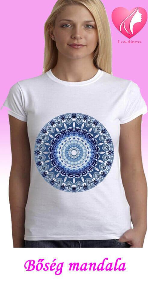 Bőség Mandalás női pólók