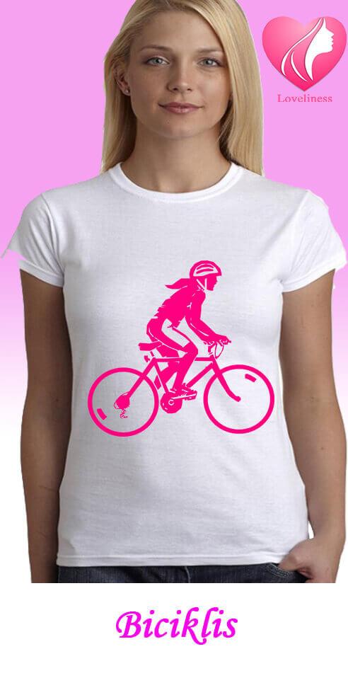 Biciklis női egyedi póló
