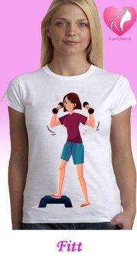 Fitt női egyedi póló