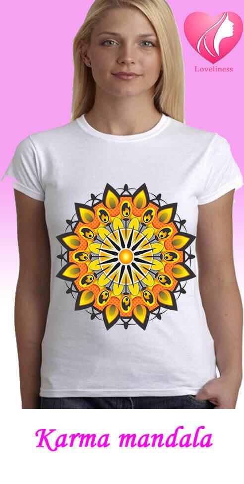Karma Mandalás női pólókdalás póló