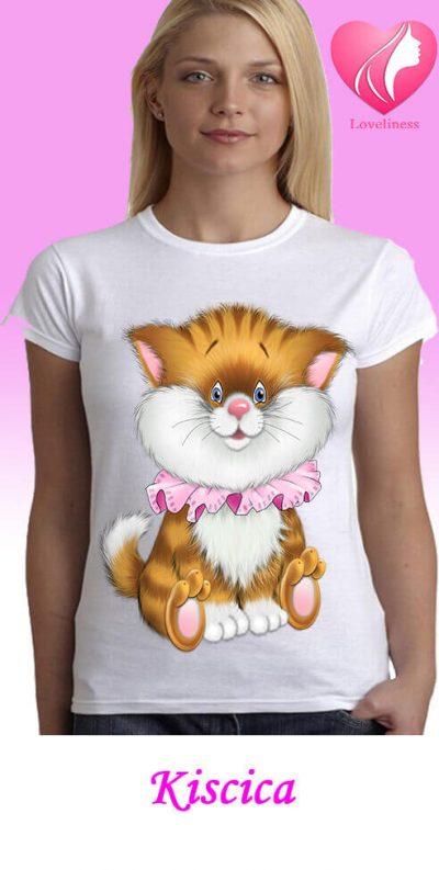 Kiscica egyedi női macskás póló
