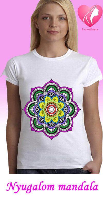 Nyugalom Mandalás női pólók
