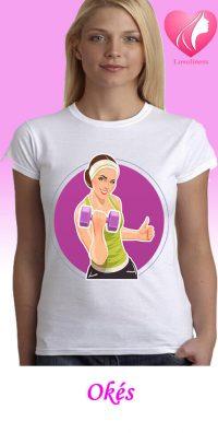 Oké női egyedi edző póló
