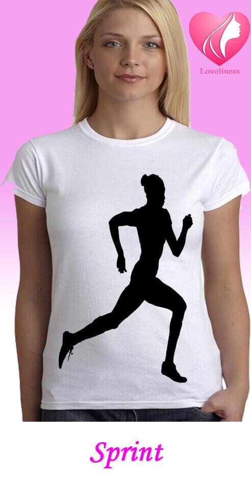 Sprint női egyedi póló