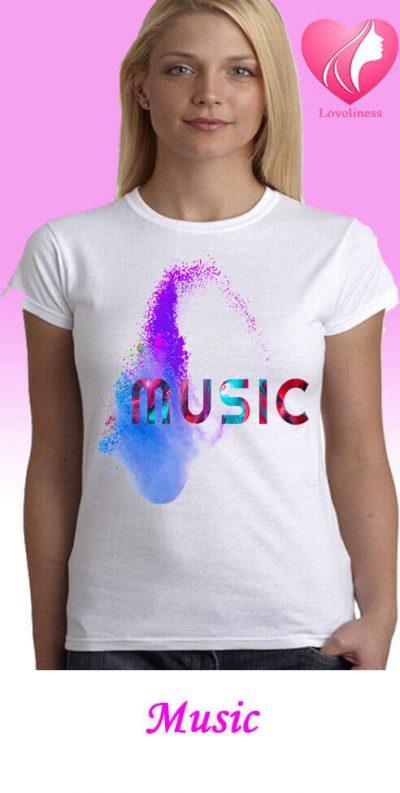 Music egyedi női póló