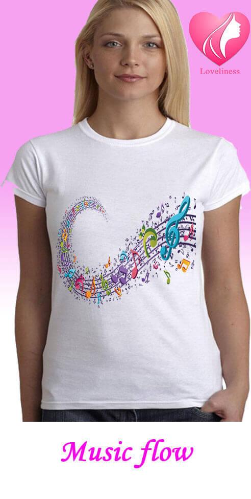 Music flow egyedi női póló zenés póló
