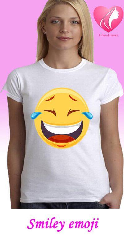 Smiley emoji egyedi női póló