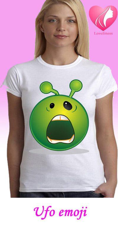 Ufo emoji egyedi női póló