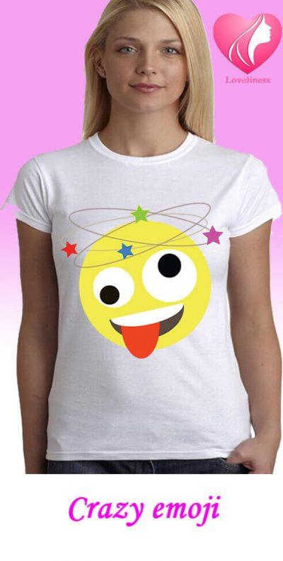crazy emoji egyedi női póló