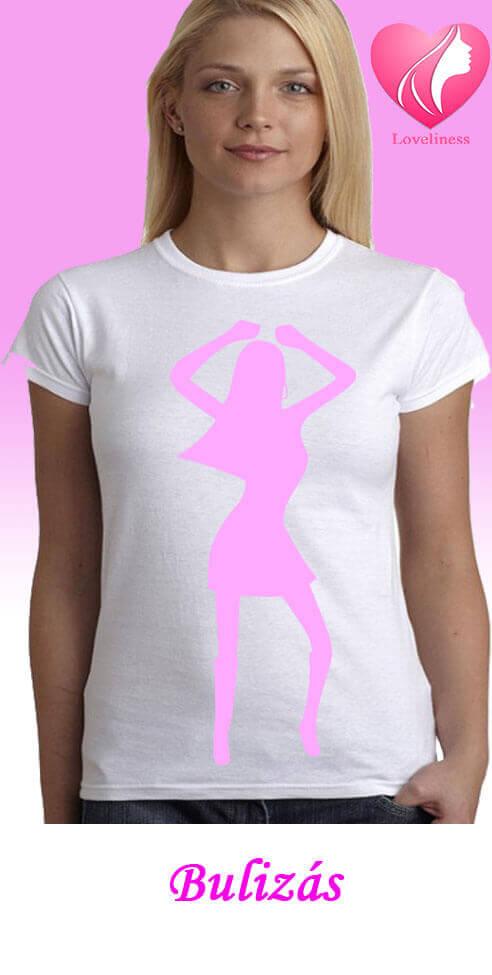 Bulizás egyedi női táncos póló