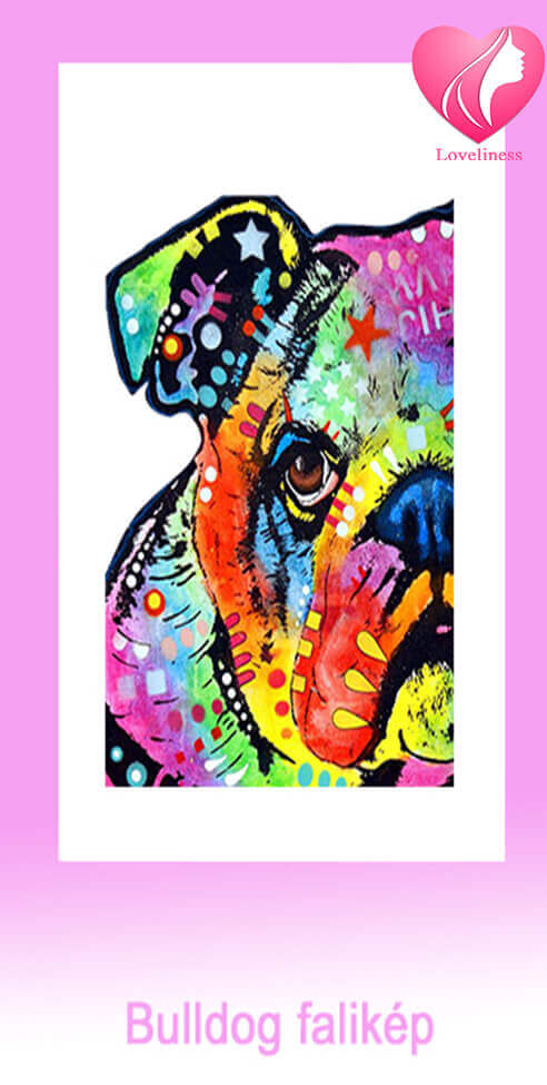 Bulldog fali vászonkép