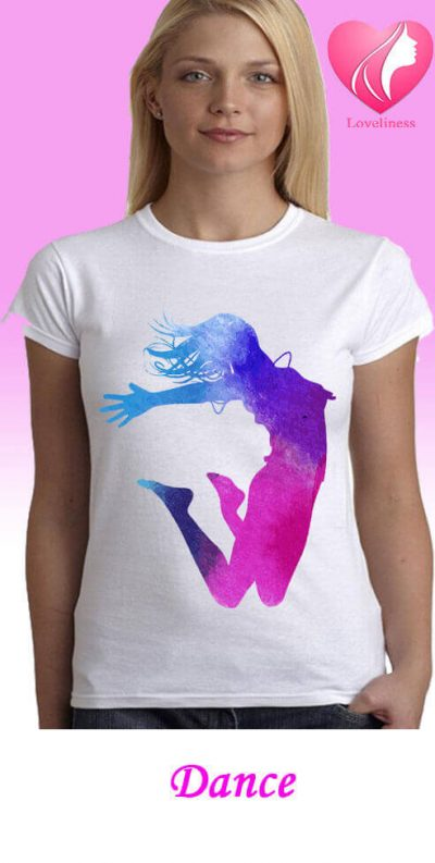 Dance egyedi női táncos póló