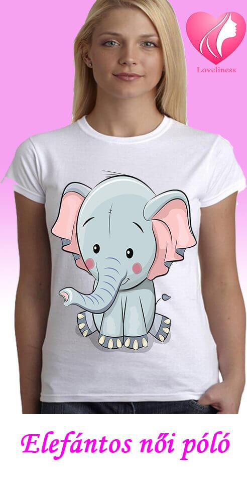 Elefántos női póló