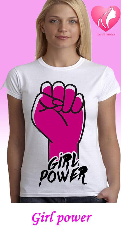 Girl power női feminista egyedi póló