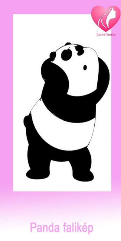 Panda textil fali egyedi vászonkép