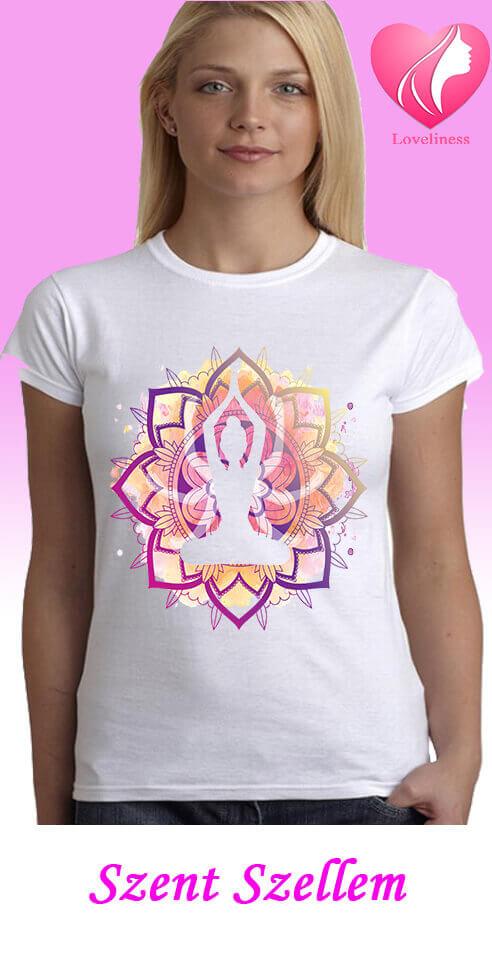 Szent Szellem egyedi női new age póló