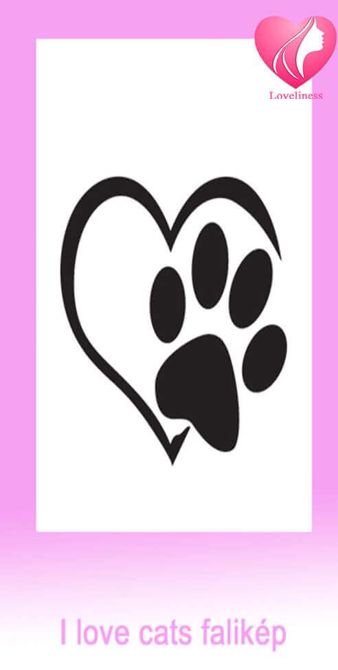 Szeretem a cicákat egyedi fali vászonkép