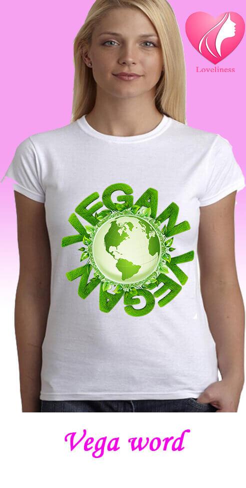 Vega word egyedi női vegetáriánus póló