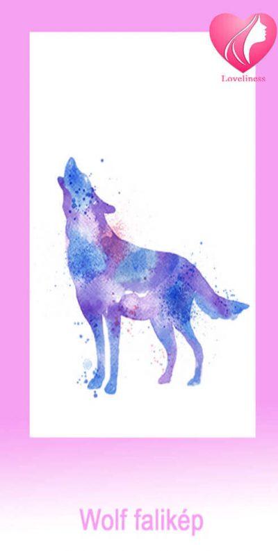 Wolf textil fali egyedi vászonkép