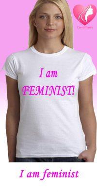 i am feminist egyedi női póló